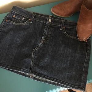 7 For All Mankind Roxy style denim mini skirt
